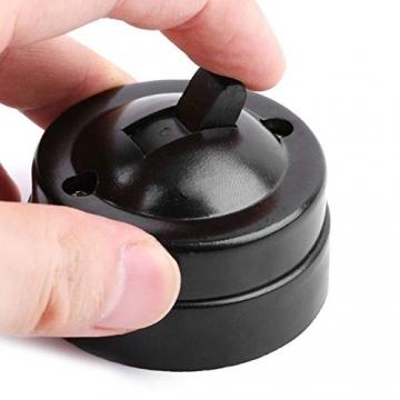 Retro Einzelschalter Metall und Kunststoff Rund Lichtschalter Aufputz Wandleuchte Knopf altmodisch - 7