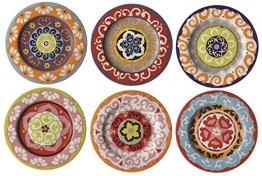 Rose & Tulipani Set mit 6Salattellern, mediterranes Design - 1