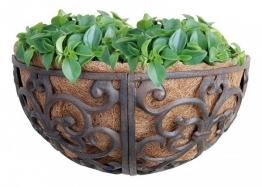 Rustikale Wandschale Blumenschale Pflanzschale Halbrund Gusseisen 35x18cm