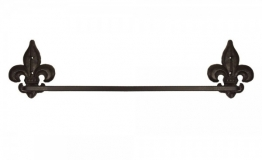 Rustikaler Handtuchhalter Lilie Gusseisen Antik-Braun 56cm