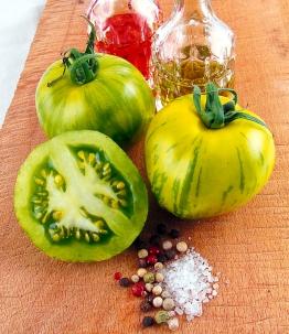 Salat-Tomate 'Green Zebra'