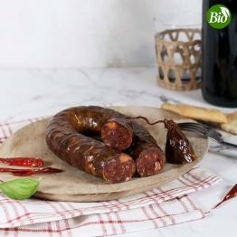 Salsiccia piccante BIO vom schwarzen Schwein