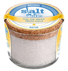 Salt & More, Salz aus IBIZA im Glas mit Korkdeckel, 180g