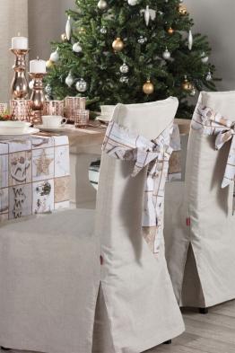 Schleife 270x12cm, beige-grau, 270 × 12 cm, Christmas