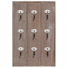 Schlüsselbrett aus Holz SLOW HOME