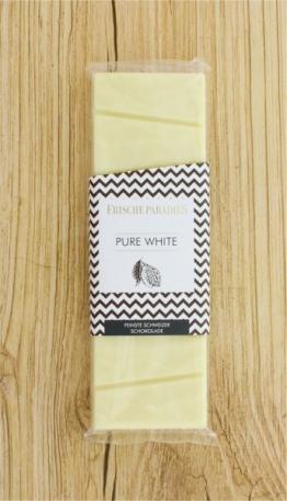Schokolade Pure White weiß FrischeParadies