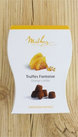 Schokoladentrüffel Truffes Fantaisie mit kandierter Orange