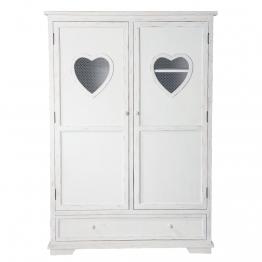 Schrank aus Holz, B130, weiß Valentine