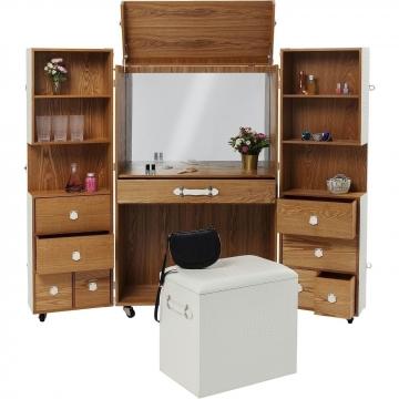 Schrankkoffer Office Croco Weiß