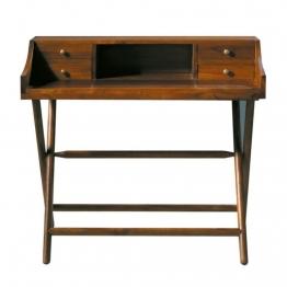 Schreibtisch aus massivem Teakholz, B 102cm, gebeizt Explorateur