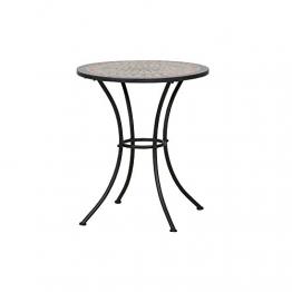 Siena Garden 380813 Tisch Prato, Ø60x71cm, Gestell: Stahl, pulverbeschichtet in schwarz matt, Fläche: Mosaik,Tischplatte: Keramik, Mehrfarbig - 1