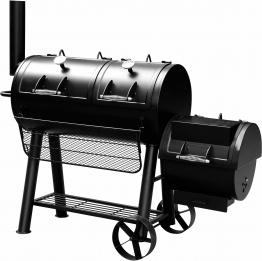 Smoker-Holzkohlegrill schwarz, »Minnesota«, El Fuego