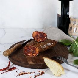 Soppressata piccante aus Kalabrien