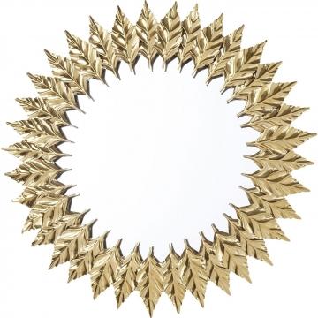Spiegel Leaves Gold Ø76cm