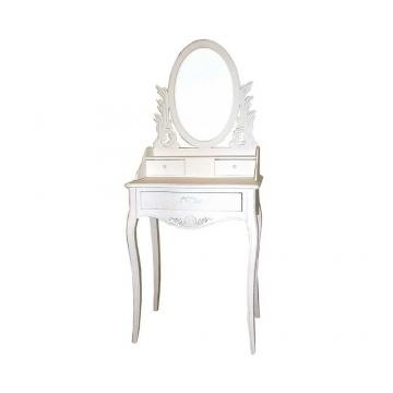 Spiegel Schminktisch in Weiß verziert Landhaus - Shop Ambiente ...