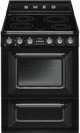 Standherd TR60IP schwarz, Energieeffizienzklasse: A, Smeg
