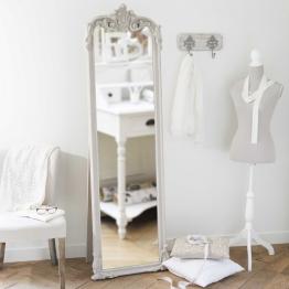 Standspiegel aus Holz beige H 178 cm ELINA