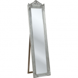 Standspiegel Barock Silber