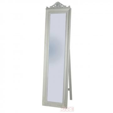 Standspiegel Barock Weiß