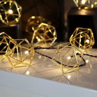 Star LED-Lichterkette Edge, 225cm, Metall, gold