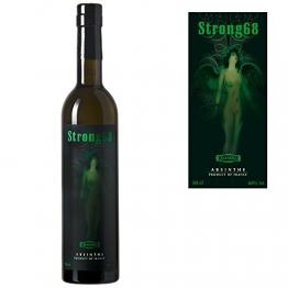 Starker Absinth / Absinthe Strong68 - Natürlich grüne Farbe - erhöhter Wermutgehalt - 68% Alkohol - 0,5 Liter - 1