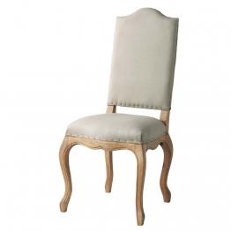 Stuhl aus Leinen und massiver Eiche Atelier