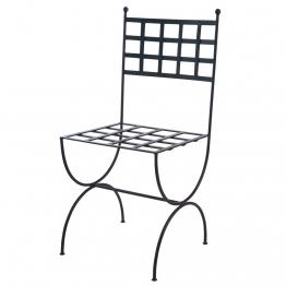 Stuhl aus Schmiedeeisen, braun