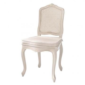 Stuhl mit Rohrgeflecht aus Kiefer, elfenbein Gustavia