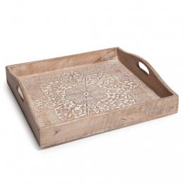 Tablett aus Holz 30 x 30 cm MEHRAB