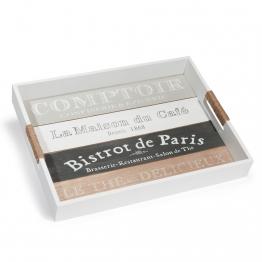 Tablett COMPTOIR DE PARIS aus Holz, 30x40