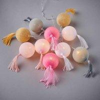 TASSELINO LED Lichterkette CottonBall Fransen