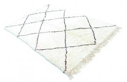 "Teppich Marokkanische Handarbeit Kelim Marokkanischer Berber Teppich Beni ourain | 7'.64""x 5' .50"" | 100% Wolle Beni ouarain Teppich Bereich Teppich Marokkanische Teppiche azilal (Stil - 1"