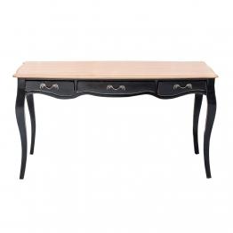 Tisch Rosalie 150x74x80cm black&natural, 150 × 74 × 80 cm