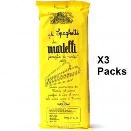TOSKANISCHE SPAGHETTI von Martelli 3er Pack (3 x 500g) Handgemacht - Gourmet Pasta aus Toskana - Italienische Spezialitäten (Nudeln) - 1