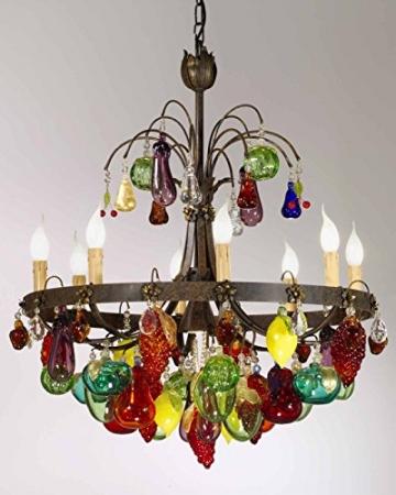 TrediciDesign Murano Glas Kristall Kronleuchter Murano Früchte -