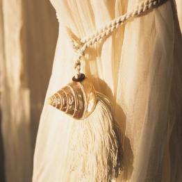Troddel Muschel, weiß, L 18 cm