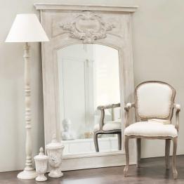 Trumeau-Spiegel aus Holz grau H 180 cm GARANCE