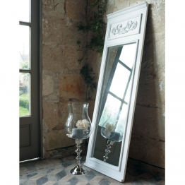 Trumeau-Spiegel CÉLESTINE aus Holz, H 170cm, weiß