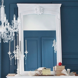 Trumeau-Spiegelaus Holz, H 160cm, weiß
