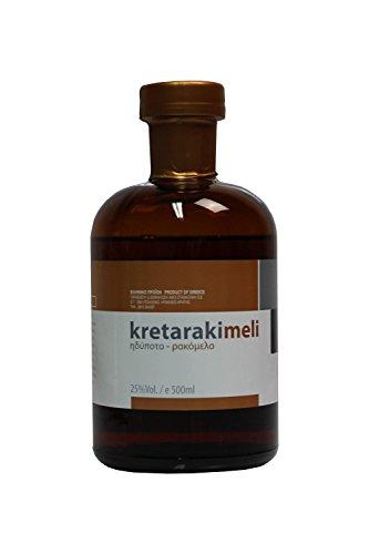 Tsikoudia Kretaraki mit Honig Rakomelo 500ml 25% Vol. Kreta Raki with honey kretarakimeli griechischer Trester Tresterbrand Griechenland -