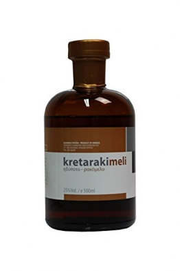 Tsikoudia Kretaraki mit Honig Rakomelo 500ml 25% Vol. Kreta Raki with honey kretarakimeli griechischer Trester Tresterbrand Griechenland - 1