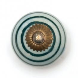 Türknauf rund, blau/grün, Ø 3,5 cm