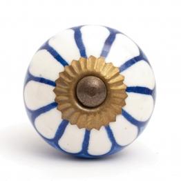 Türknauf rund, blau/weiß, Ø 3,5 cm