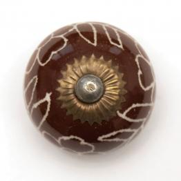 Türknauf rund, braun/weiß, Ø 3,5 cm