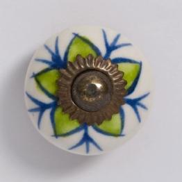 Türknauf rund, grün/blau, Ø 3,5 cm