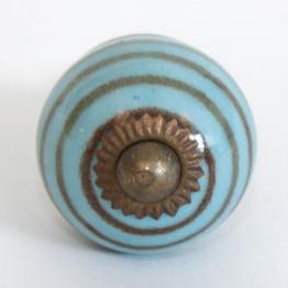 Türknauf rund, hellblau, Ø 3,5 cm
