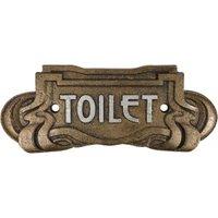 Türschild TOILET Gusseisen Bronze WC-Schild Belle Epoque Toilettenschild Anti...
