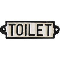 Türschild TOILET Gusseisen WC-Schild Toilettenschild Vintage Antik-Stil