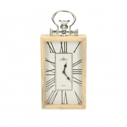 Uhr Paris wood 15x5x34cm, 15 × 5 × 34 cm
