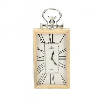 Uhr Paris wood 15x5x34cm, 15 × 5 × 34 cm
